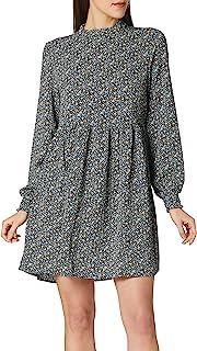 JDY JDYPIPER L/S Short Dress WVN Noos Vestido, Black/AOP: Spectra Yellow & Aquarius Ditsy, 46 para Mujer