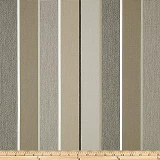 Sunbrella Outdoor Canvas Stripe Milano Fabric, Charcoal