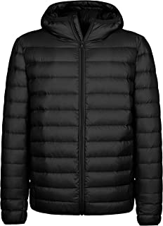 Wantdo Men's Hooded Packable Light Weight Down Puffer Jacket