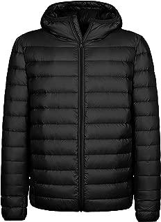 Men's Hooded Packable Light Weight Down Puffer Jacket