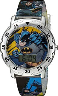 DC Comics Boys' Analog-Quartz Watch with Plastic Strap, Multi, 0.7 (Model: BAT4100