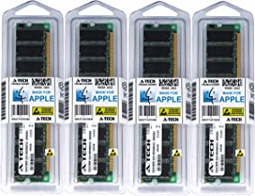 A-Tech for Apple 4GB Kit 4X 1GB PC2700 333MHz Power Mac G5 Mac Mini iMac Late 2005 M9285LL/A N/A M9168LL/A M9290LL/A M9686LL/A A1103 M9687LL/A M9686LL/B M9687LL/B M9020LL/A A1047 Memory RAM