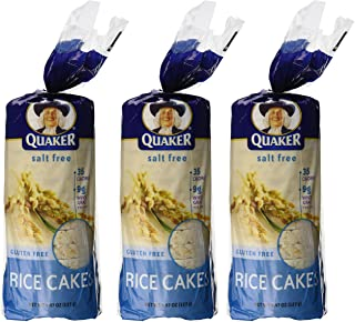 Quaker Plain Unsalted Rice Cake, 4.47 oz, 3 pk