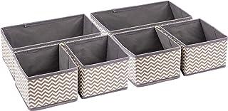 Organiseurs de tiroirs et commode en tissu - Boîtes de rangement pliables pour la chambre de bébé - Organisez votre maquil...