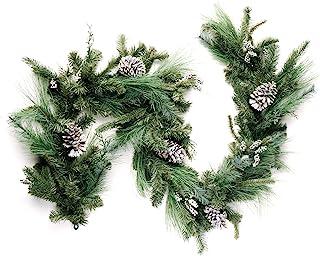 CraftMore Christmas Pine Garland and Grey Pinecone