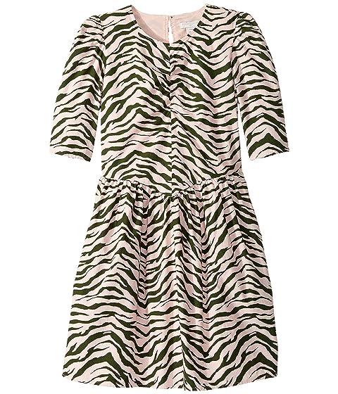 Stella McCartney Kids Zebra Stripe Dress (Toddler/Little Kids/Big Kids)