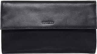 Feynsinn Clutch echt Leder Jessy groß Unterarmtasche Abendtasche Damen Tasche Ledertasche Damen schwarz