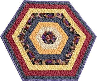 quilted hexagon table topper