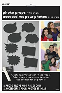 Chalkboard Photo Booth Props, 8pc