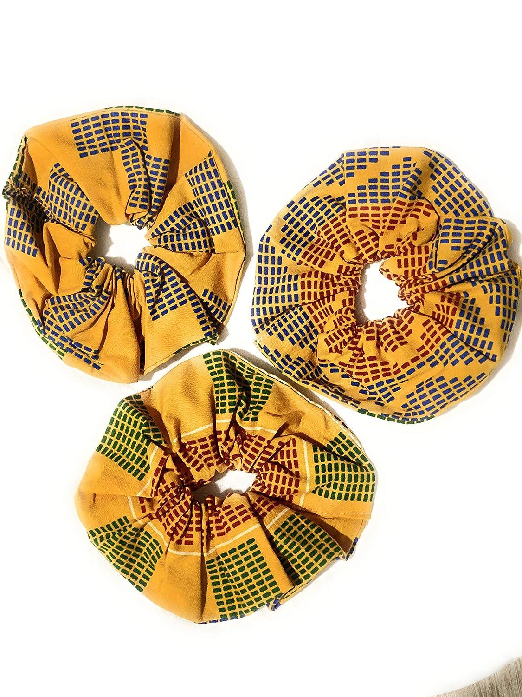 Colourful African Ankara Wax Print Scrunchie