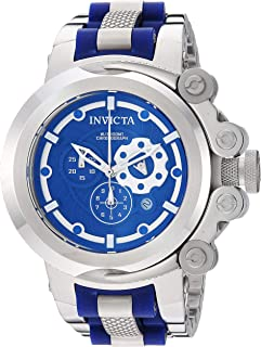 Invicta Men's Coalition Forces Quartz Watch with Stainless Steel Strap, Silver, 26 (Model: 28403)