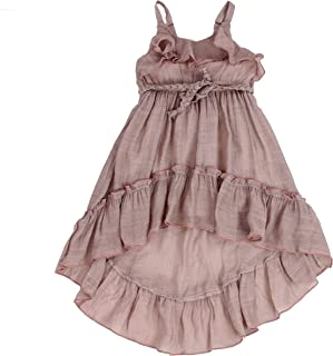 Toddlers and Girls (2T-7/8) Beach Beauty Ruffle High-Low Airy & Light Gauze-Cotton Dress