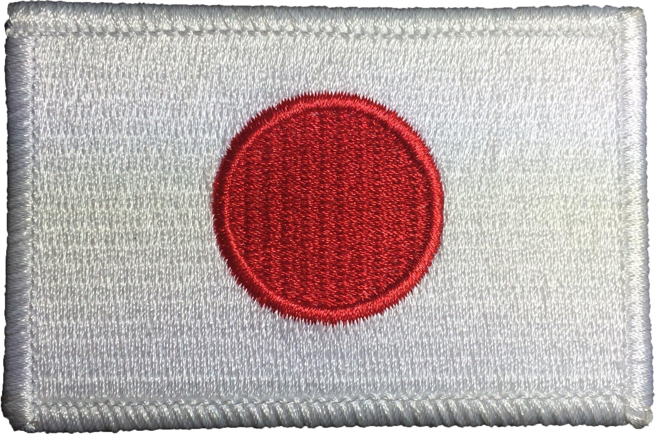 JAPAN Flag Patch With VELCRO® Brand Fastener  Military Tactical Shoulder Emblem