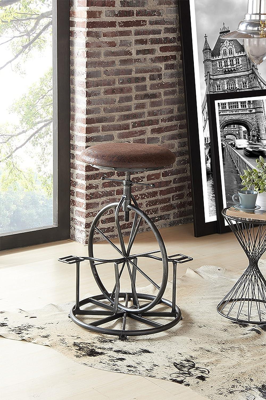 Armen Outlet Portland Mall SALE Living Harlem Adjustable Barstool I Fabric and Wrangler in