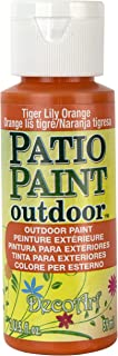 DecoArt Patio Paint, 2-Ounce, Tiger Lily Orange