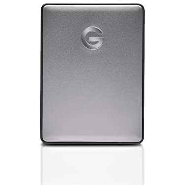 G-Technology 1TB G-DRIVE Mobile USB-C (USB 3.1 Gen 1) Portable External Hard Drive, Space Gray - 0G10265