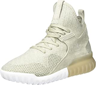 Adidas ORIGINALS Mens Tubular X Primeknit Lace Up Hi Top Casual Trainers Sesame