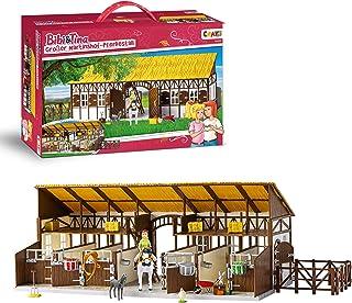 CRAZE Bibi Blocksberg BIBI & Tina duża stajnia do jazdy konnej, w tym figurki i akcesoria z zabawkami 14899, wielokolorowa