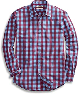 Goodthreads Men's Standard-Fit Long-Sleeve Gingham Plaid...
