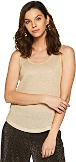 VERO MODA Womens Regular Fit Linen Top