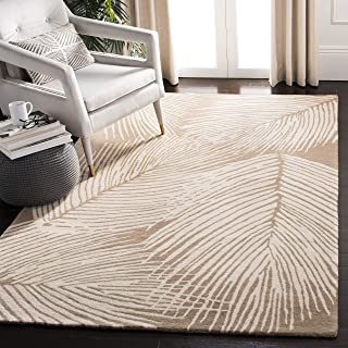 Safavieh Soho Collection SOH793A Handmade Beige and Ivory Premium Wool Area Rug (3'6