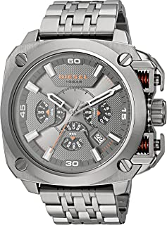 Diesel BAMF Men's Gray Dial Stainless Steel Band Chronograph Watch - DZ7344