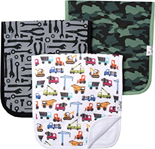 """Baby Burp Cloth Large 21''x10'' Size Premium Absorbent Triple Layer 3-Pack Gift Set """"Diesel"""" by Copper Pearl"""