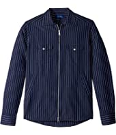 Eton - Stripe Zip Shirt