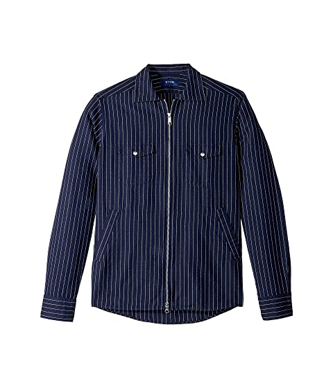 Eton Stripe Zip Shirt