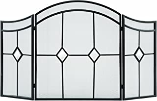 Pleasant Hearth Arched Diamond 3-Panel Fireplace Screen