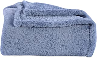 Berkshire Blanket Original Extra-Fluffy Bed Blanket, King, Blue Mist