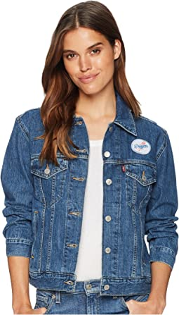 Levi's® Womens Los Angeles Dodgers Patch Trucker Jacket