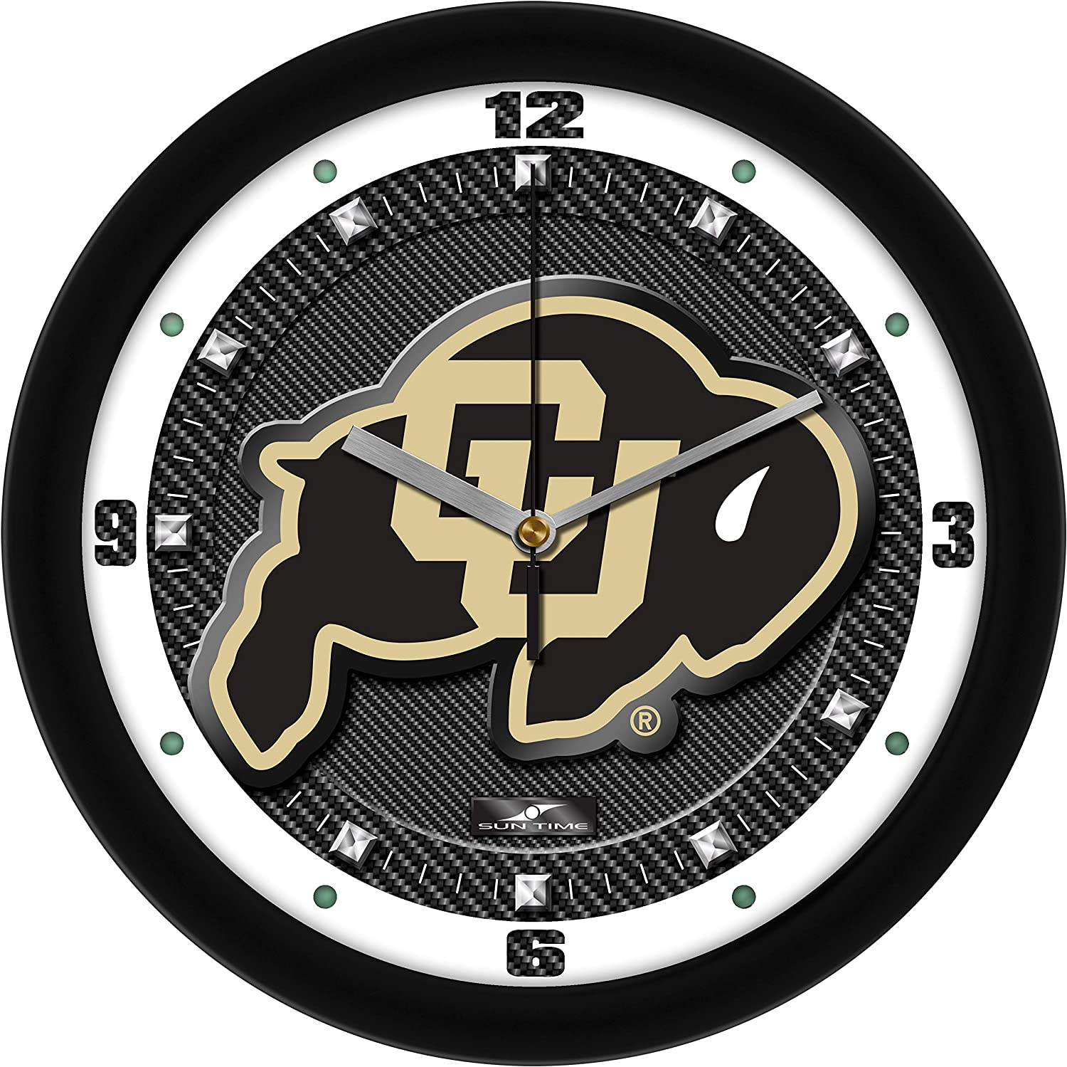 Spring new work one after another Colorado Buffaloes - Carbon At the price Wall Clock Textured Fiber
