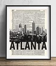 Atlanta Skyline With Bold Name Dictionary Art Print 8x10