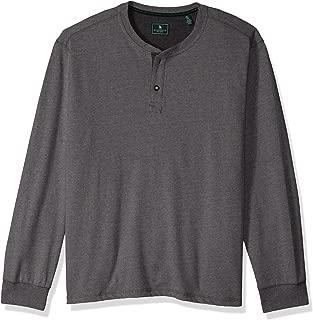 G.H. Bass & Co. Men's Carbon Long Sleeve Jersey Henley Solid Shirt