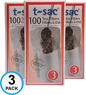 Modern Tea Filter Bags, Disposable Tea Infuser, Size 3, Set of 300 Filters - 3 Boxes - Heat Sealable, Natural, Easy to Use Anywhere, No Cleanup – Perfect for Teas, Coffee & Herbs - from Magic Teafit