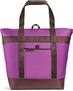 Rachael Ray Jumbo ChillOut Thermal Tote Bag for Grocery Shopping, Transport Cold or Hot Food, Extra-Large Capacity, Insulated, Reusable, Purple