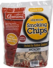 Smoking Chips - (Hickory) Kiln Dried, Natural Coarse Wood Smoker Chunks - 2 Pound Bag Barbecue Chips