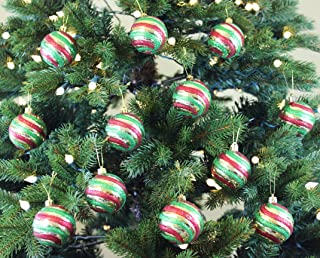 Sleetly Christmas Ornaments Set, Vintage Style, 2.36 inches, Pack of 18
