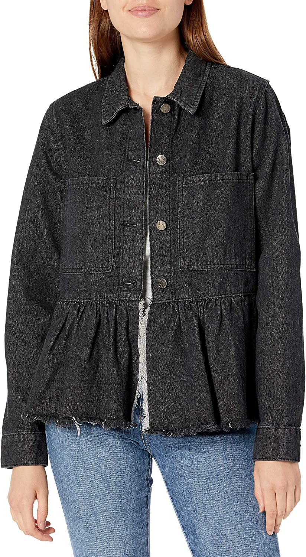 Mud Pie Women's Denim Peplum Jacket