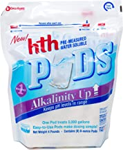hth 67053 Pre-Measured Water Soluble Pool Chemical Pods, Alkalinity Up, 8