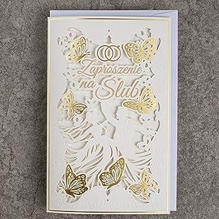 Konst NUVO VÄDDINGSKort – 20 st, 130 x 205 mm, med tryckbara inslag och dekorationer för väsning – laserskuren, guldfolie,...