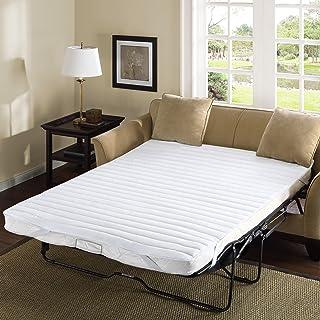Madison Park Essentials Frisco Fine Microfiber Sofa Bed Cover Waterproof Mattress Protector Topper, 60x72, White