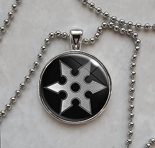 Ninja Shuriken Throwing Star Pendant Necklace