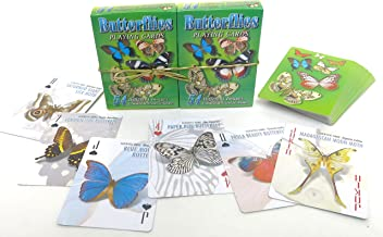 Iconixink Butterflies, Playing Cards, Set of Two, Fifty Four in a Set