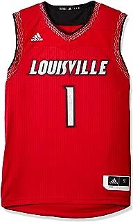 adidas Louisville Cardinals NCAA Men's Red Iced Out Basketball Replica Jersey