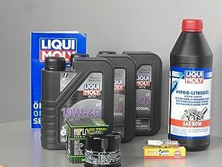 Mantenimiento y Service Set para quad Yamaha YFM 450Grizzly aceite filtro Bujía