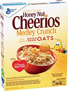 Cheerios Breakfast Cereal, Honey Nut Cheerios Medley Crunch Cereal, 13.1 oz Box