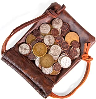 The Dragon's Hoard: 60 Real Metal Fantasy Coins with Leather Pouch | Board Game Accessory for Tabletop RPG Role-Play Strat...