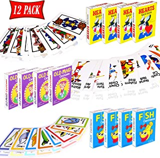 Card Games for Kids - Hearts, Go Fish, and Old Maid Playing Cards - Educational for Boys and Girls for Party Favors, Goody...